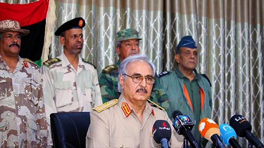 The east Libya-based military commander Khalifa Haftar
