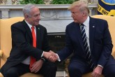 "U.S. President Donald Trump and Israeli Prime Minister Benjamin Netanyahu unveil Middle East ""peace plan"""