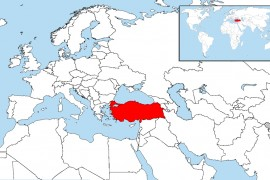 Map of the Republic of Turkey