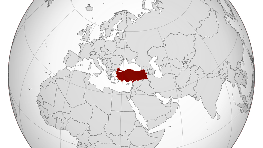 Turkey - World- Location Map