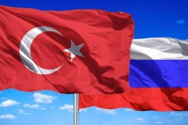 Turkish and Russian flags