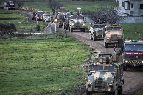 Turkish forces set up positions in Syria's Idlib