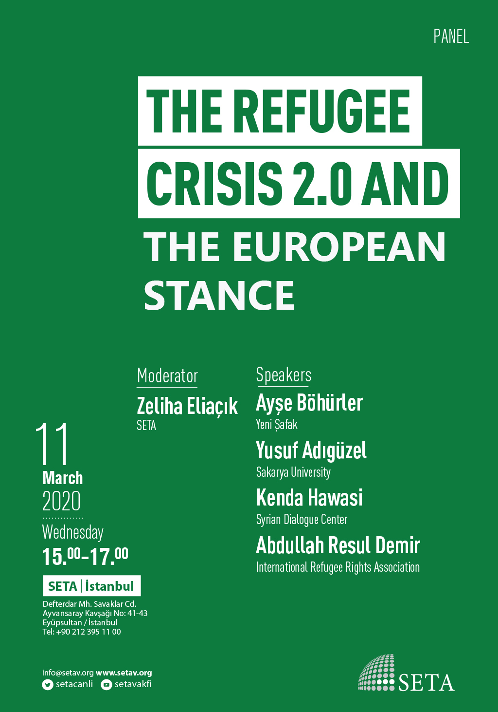 Panel: The Refugee Crisis 2.0 and the European Stance