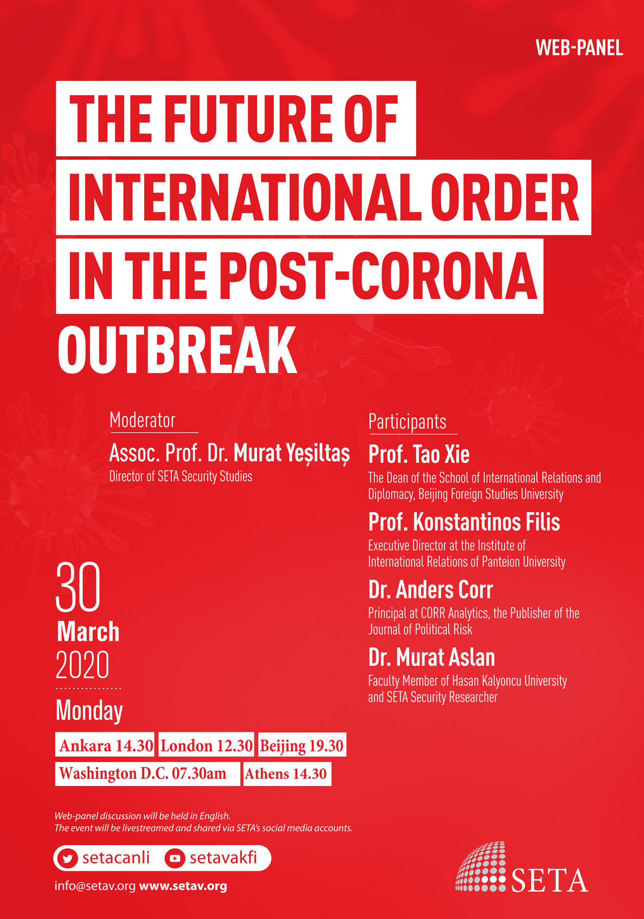 Web-Panel: The Future of International Order in the Post-Corona Outbreak