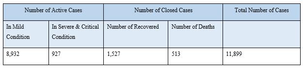 Number of COVID-19 Cases in Belgium
