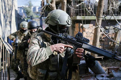 Turkish soldiers during anti-terror Operation