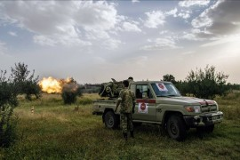 9 April 2020 | Forces of Libya's UN-recognized Government of National Accord (GNA) bombed a convoy of militias affiliated with renegade commander Khalifa Haftar on Thursday.   The GNA's air force targeted the convoy, which included two armored vehicles belonging to the United Arab Emirates, after monitoring their movements on the road between the towns of Tarhuna and Bani Walid south of Tripoli, the GNA-led Burkan Al-Ghadab Operation (Volcano of Rage), said on Facebook.  No additional details were provided. (AA)