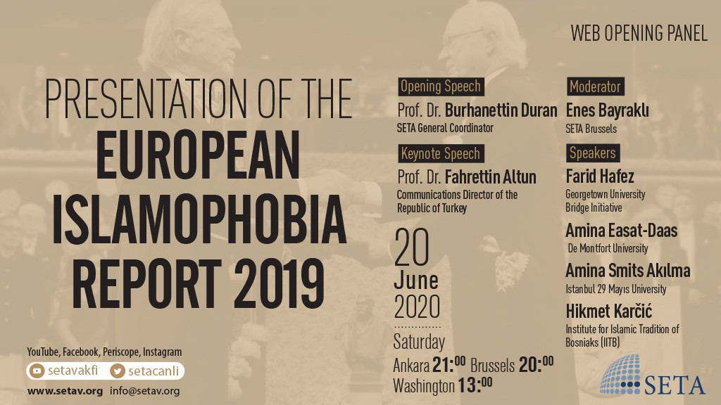 "Web Opening Panel: Presentation of the ""European Islamophobia Report 2019"""