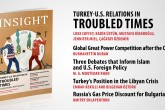 """Insight Turkey Publishes Its Latest Issue """"Turkey- U.S. Relations in Troubled Times"""""""