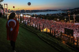 13.07.2019 | Thousands of people flocked to the July 15 Martyrs Bridge in Istanbul to mark the second anniversary of the defeated coup attempt in 2016.