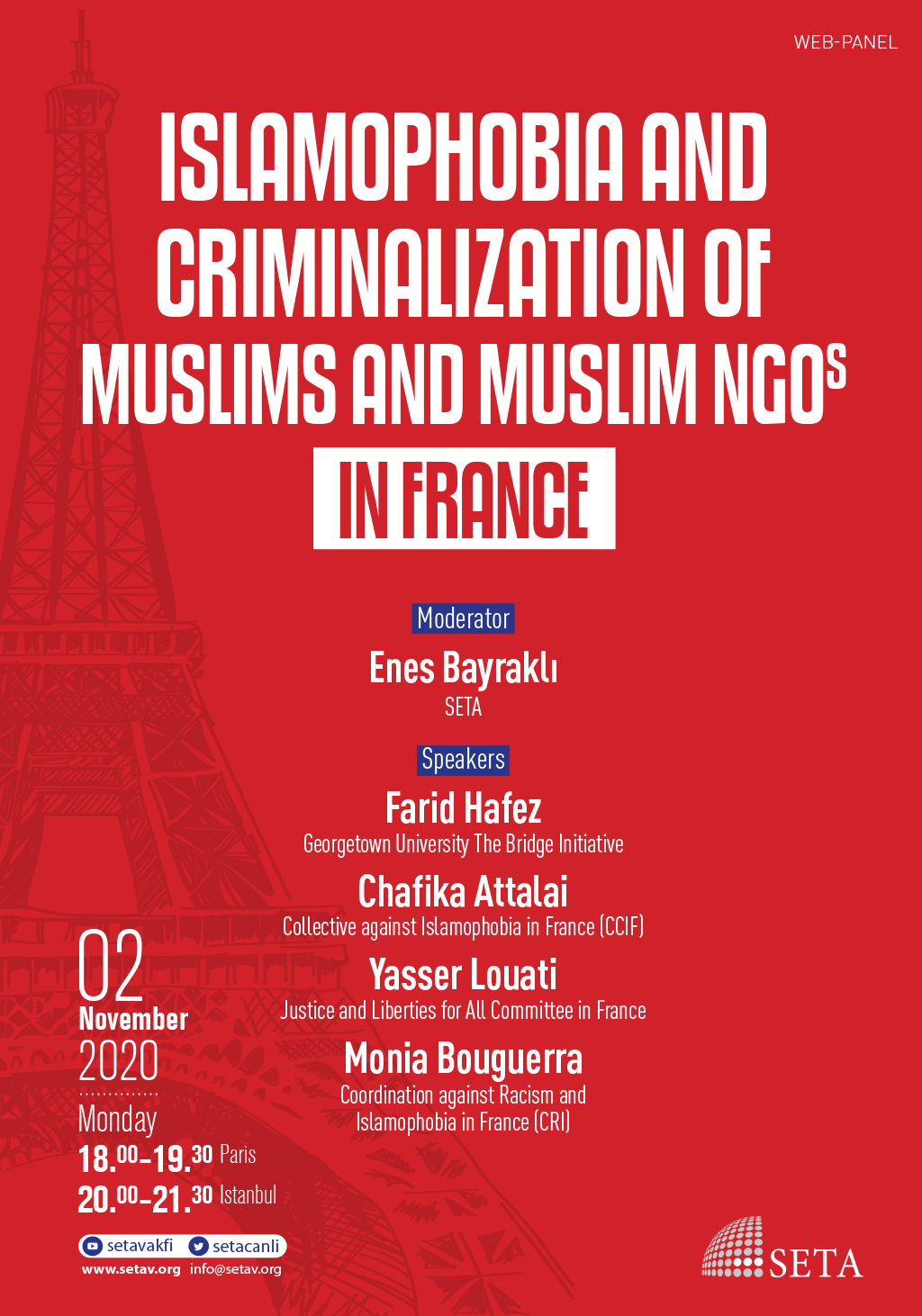 Web Panel: Islamophobia and Criminalization of Muslims and Muslim NGOs in France