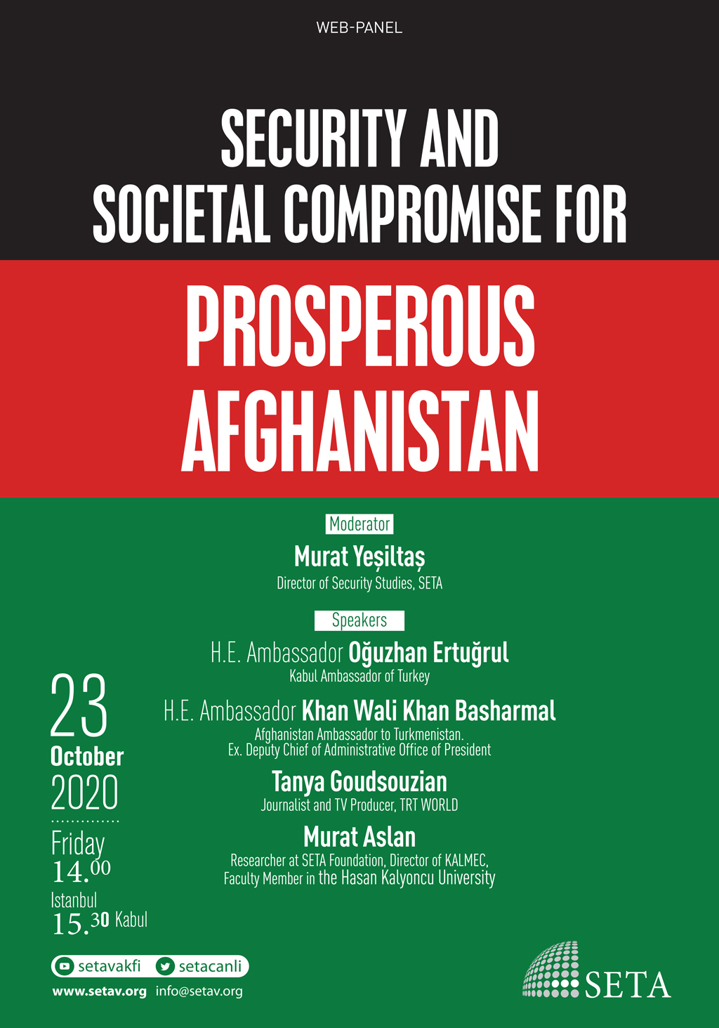 Web Panel : Security and Societal Compromise for Prosperous Afghanistan