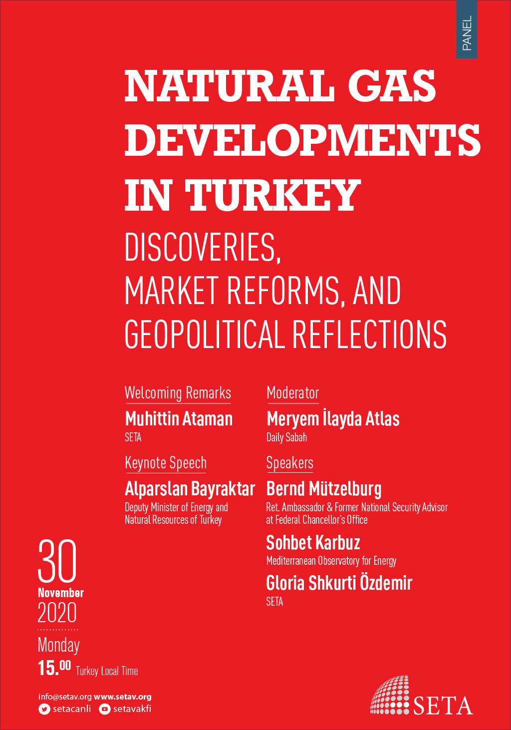 Web Panel: Natural Gas Developments in Turkey | Discoveries, Market Reforms and Geopolitical Reflections