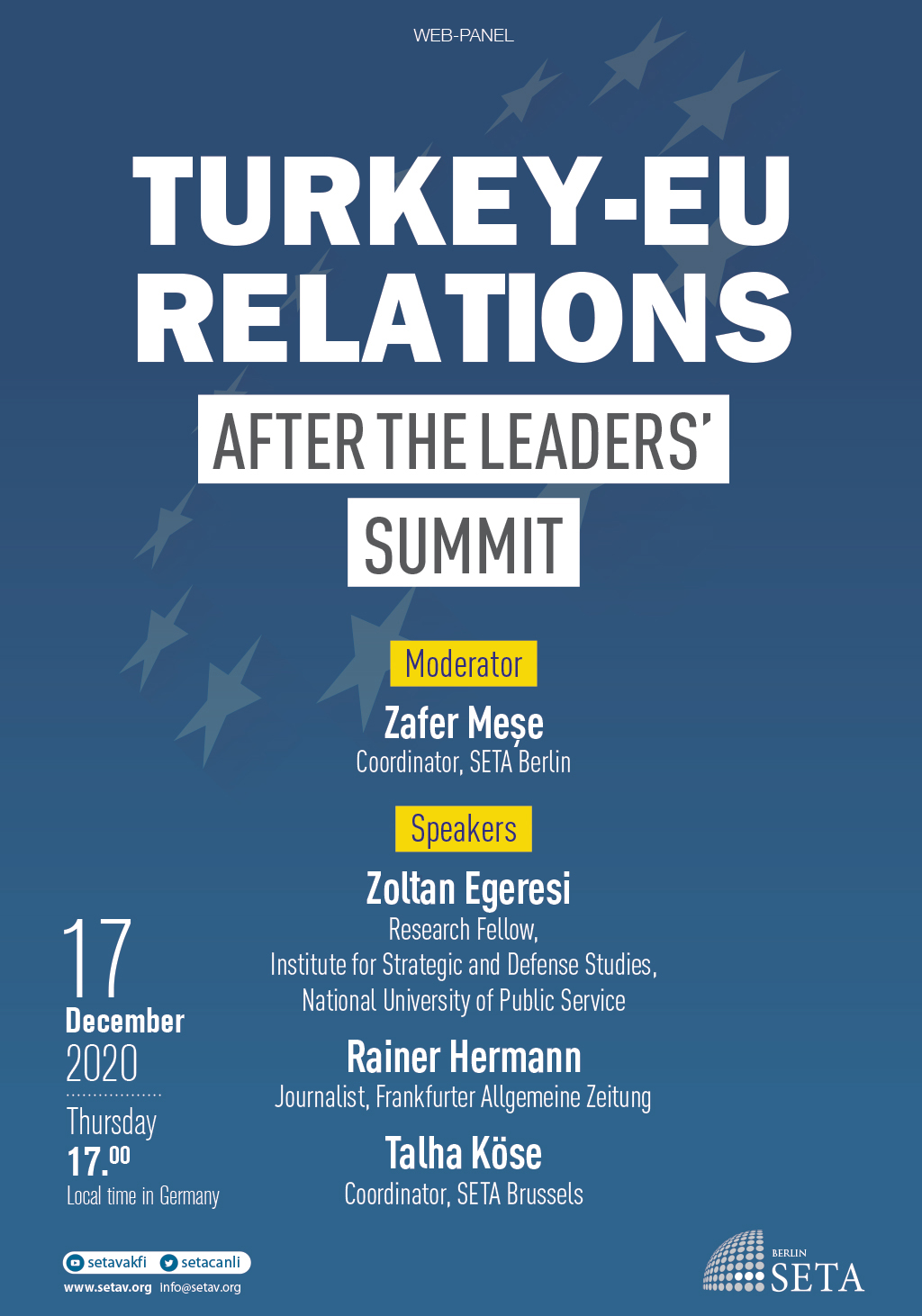 Web Panel: Turkey-EU Relations After the Leaders' Summit