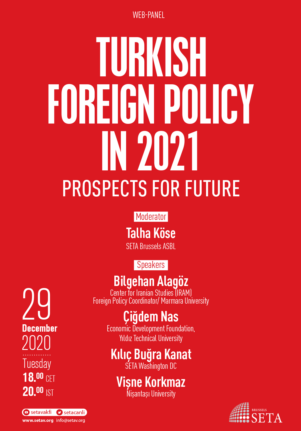 Web Panel: Turkish Foreign Policy in 2021 | Prospects for future