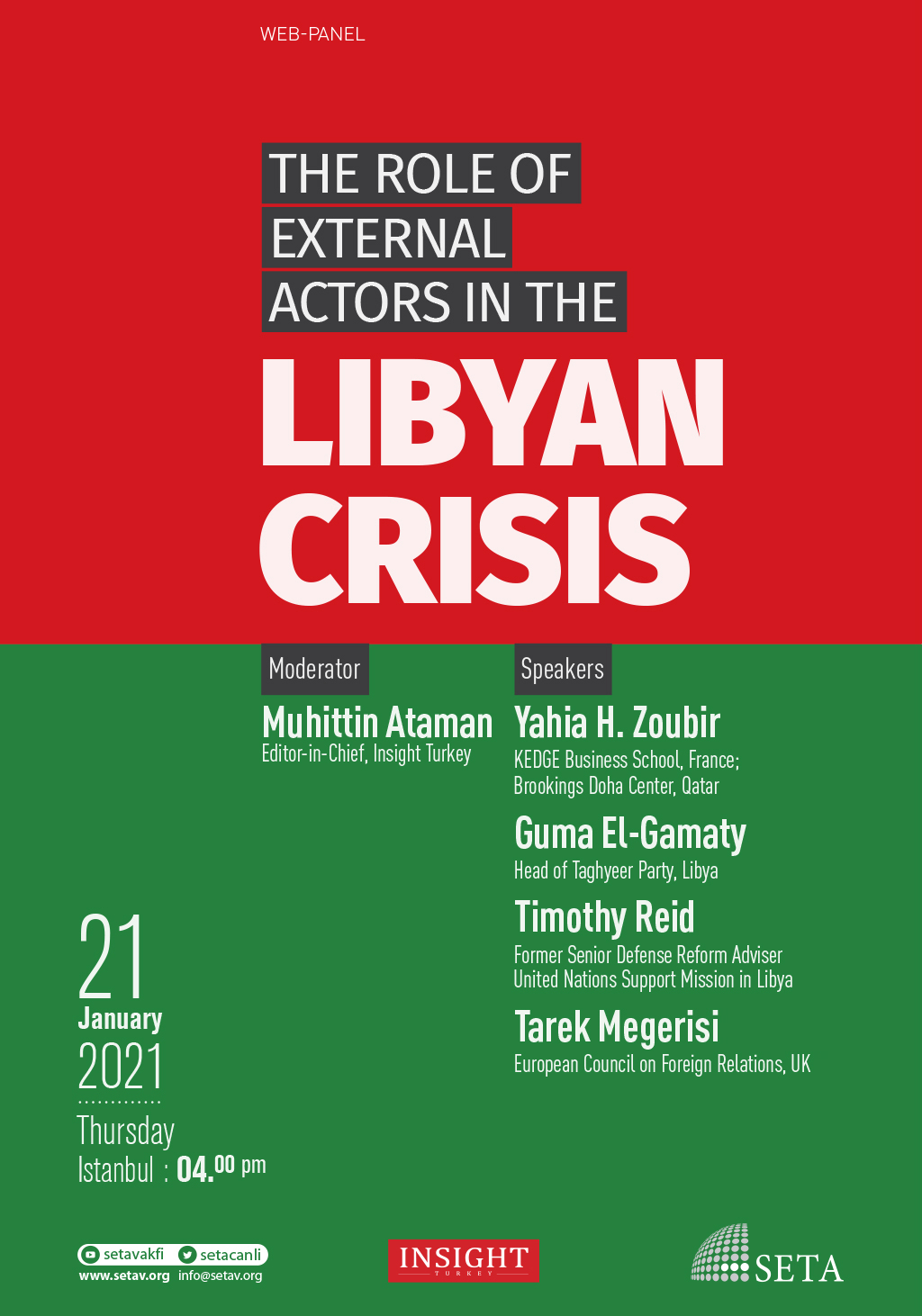 Web Panel: The Role of External Actors in the Libyan Crisis