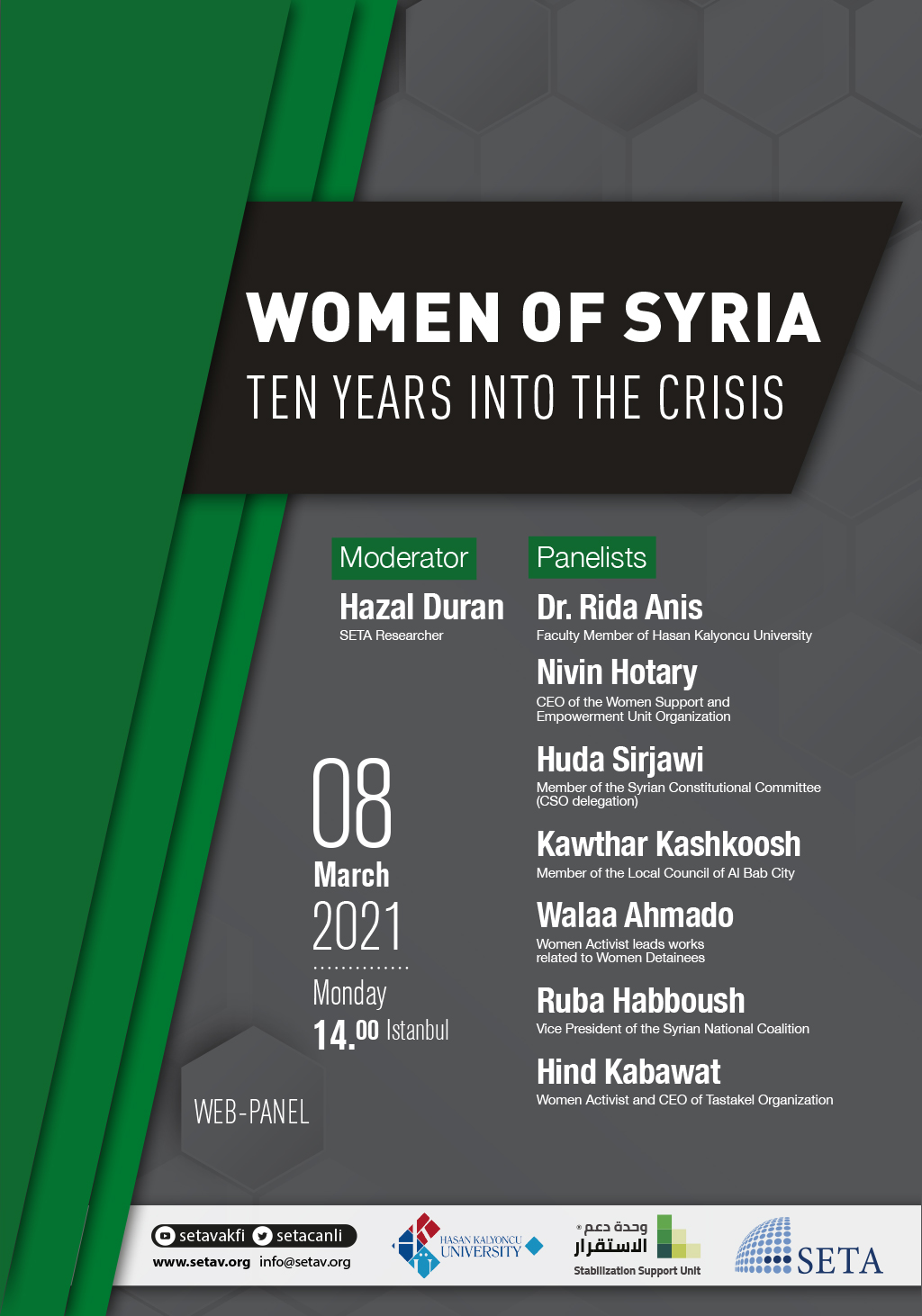 Web Panel: Womens of Syria | Ten Years into the Crisis