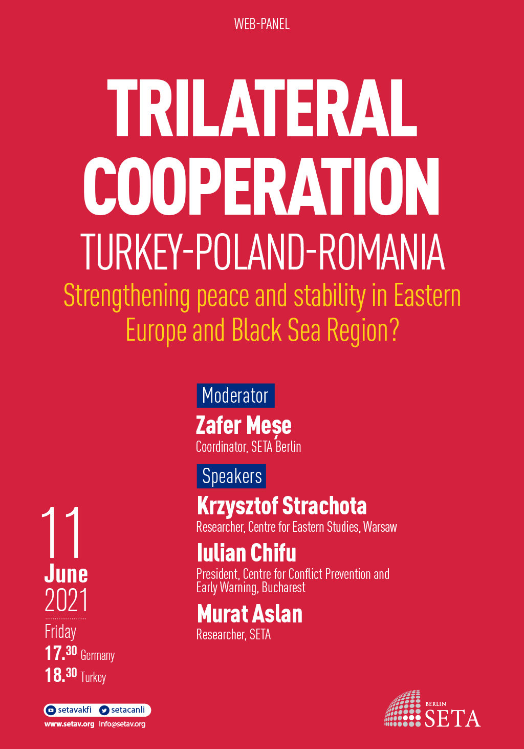Web Panel: Trialteral Cooperation Turkey-Poland-Romania | Strengthening peace and stability in Eastern Europe and Black Sea Region