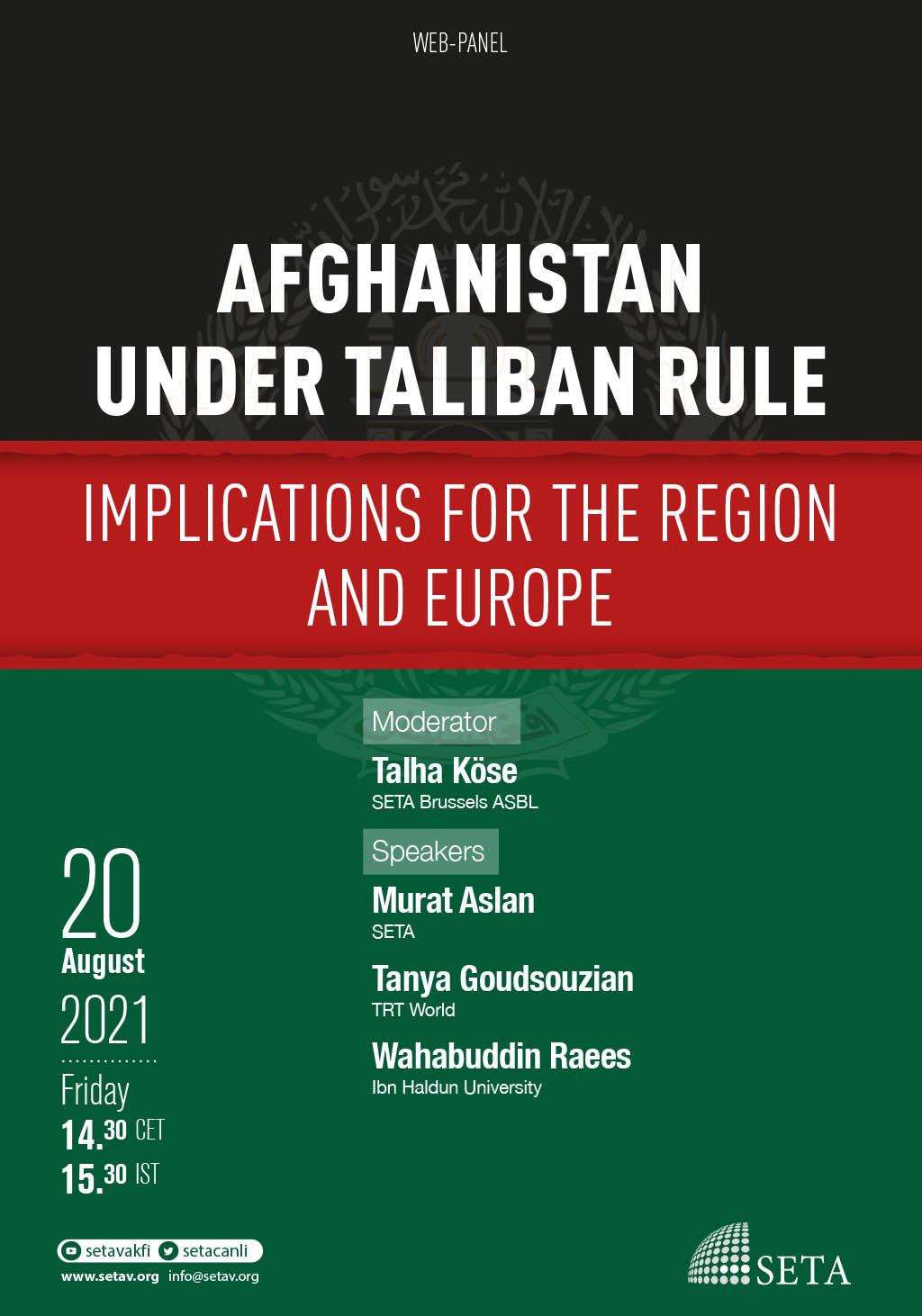 Web-Panel: Afghanistan Under Taliban Rule